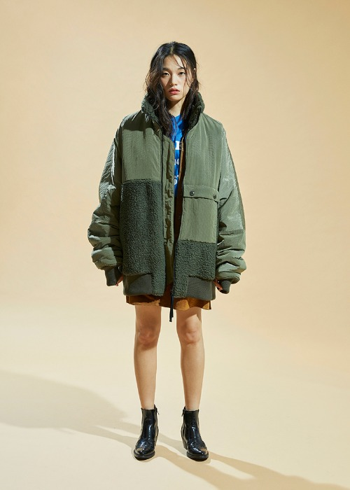 Fleece B-15 Jacket (Khaki)