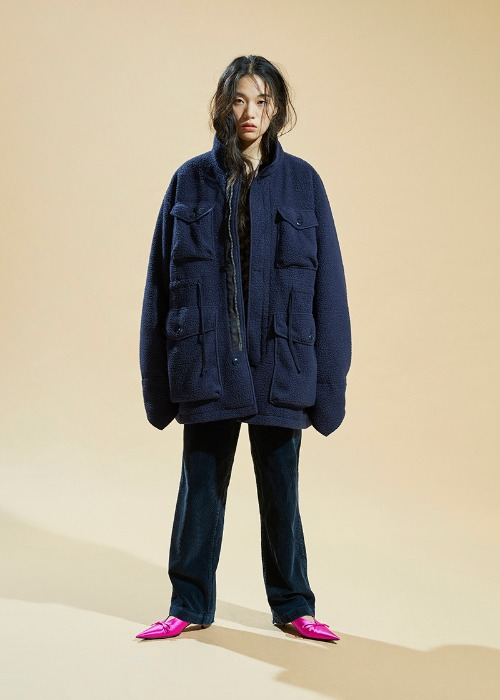 Fleece M-65 Field Jacket (Navy)